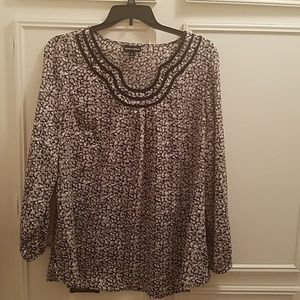 Fashion Bug Tops - Black and white blouse